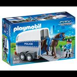 Playmobil Polis med Häst och Trailer