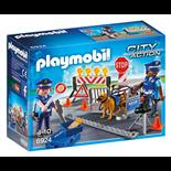 Playmobil Polis med Vägspärr
