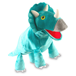 Fiesta Crafts Triceratops Dinosaurie Handdocka m Rörlig Mun