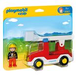 Playmobil 1-2-3 Brandbil med Stege