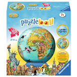 Ravensburger Pusselboll 108 Bitar Childrens World Map