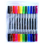 Färgpennor Dubbelspets 12-Pack