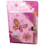 Dagbok med Lås Fjäril