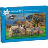Kärnan Pussel 300 Bitar Savannah Animals