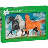 Kärnan Pussel 200 Bitar Three Horses