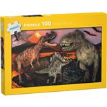 Kärnan Pussel 100 Bitar Dinosaurs