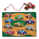 Melissa & Doug Magnetic Wooden Game Tow Truck