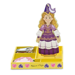 Melissa & Doug Magnetic Wooden Dress-Up Doll Princess Elise