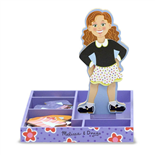 Melissa & Doug Magnetic Wooden Dress-Up Doll Maggie Leigh