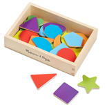 Melissa & Doug Wooden Shape Magnets