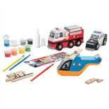 Melissa & Doug Decorate-Your-Own Rescue Vehicles Set