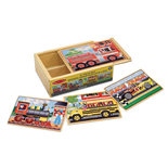 Melissa & Doug Vehicles Puzzle 4x12 Bitar
