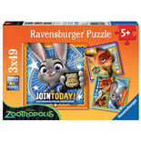 Ravensburger Pussel 3x49 Bitar Disney Zootropolis Busted!