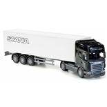 Emek Scania Topline Box Van Semitrailer Svart