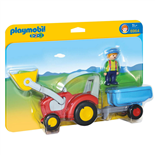 Playmobil 1-2-3 Bonde med Traktor och Släp