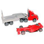 Plasto Lastbil med Formel 1 bil
