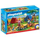 Playmobil Tältläger med Lägereld