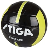 Stiga Fotboll Ultimate Beach Ball Stl 5 Svart/Lime