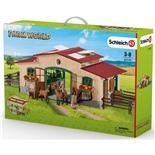Schleich Farm World Stall med Hästar och Tillbehör