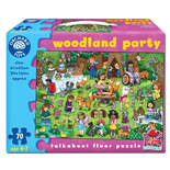 Orchard Toys Pussel 70 Bitar Woodland Party
