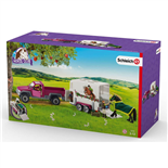Schleich Horse Club Pick-Up-Bil med Hästtransport