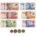 Svenska Leksakspengar Nya Mynt & Nya Sedlar