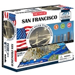 4D Cityscapes Time Puzzle San Francisco USA 1000 Bitar