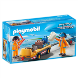 Playmobil Bagagetransportbil med Markpersonal