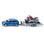 Siku Bil med Trailer och Motorcykel 1:55
