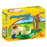 Playmobil 1-2-3 Flicka med Dinosaurieägg