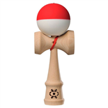 Tribute Kendama Half Split Red and White SILK Matte 18 cm