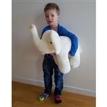 Mjukis Elefant Vit 50 cm