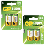 GP Super Alkaline C Batteri 4-pack