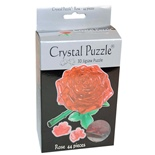 Crystal Puzzle 3D Pussel 44 Bitar Red Rose