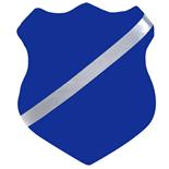 Märkessköld 25 cm Blå