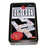 Double 6 Color Dot Domino i Plåtask