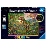 Ravensburger Pussel 100 XXL Bitar Colorful King of the Stone Age