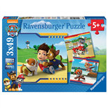 Ravensburger Pussel 3x49 Bitar Paw Patrol Heroes with Coat
