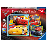 Ravensburger Pussel 3x49 Bitar Disney Cars 3 Legends of the Track