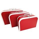 Resväskor i Papp Röda 3-Pack