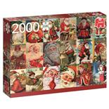 Jumbo Pussel 2000 Bitar Vintage Jultomtar