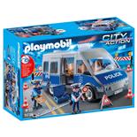 Playmobil Polisbuss med Vägspärr