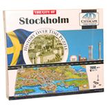 4D Cityscapes Time Puzzle Stockholm Sverige 1100 Bitar