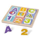 Melissa & Doug ABC-123 Chunky Puzzle