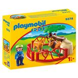 Playmobil 1-2-3 Inhägnad med Lejon
