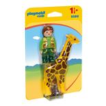 Playmobil 1-2-3 Djurskötare med Giraff