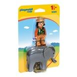 Playmobil 1-2-3 Djurskötare med Elefant