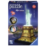 Ravensburger 3D Pussel 108 Bitar Night Edition Statue of Lib