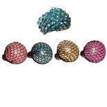 Stressboll i Nät med Glitter 1 st