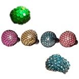 Stressboll i Nät med Glitter och LED Belysning 1 st
